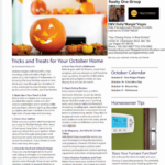 Trick and Treats October Home Warranty Newsletter